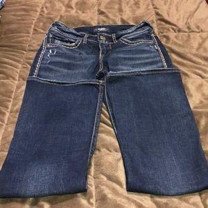 Women's Silver Suki Bootcut Jeans size 28x31